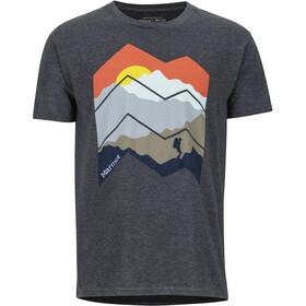 Marmot Zig Zag Mountains Camiseta Manga Corta Hombre, charcoal heather